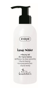 ZIAJA GOAT`S MILK FACE MILK GEL FACE WASHING DRY OR WET CLEANNING MAKE-UP REMOVER