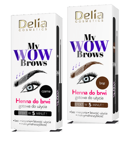 DELIA COSMETICS MY WOW BROWS HENNA DO BRWII GOTOWA DO UŻYCIA
