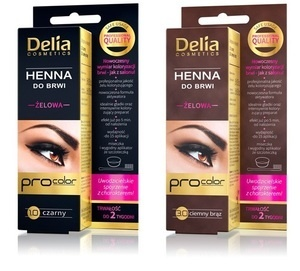 DELIA COSMETICS PRO COLOR ŻELOWA HENNA DO BRWI