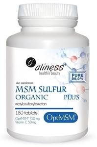 MEDICALINE ALINESS MSM SIARKA ORGANICZNA PLUS + WITAMIN C 180 TABLETEK