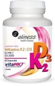 MEDICALINE ALINESS WITAMINA K2 I D3 SUPLEMENT DIETY 60 KAPSUŁEK VITA MK7